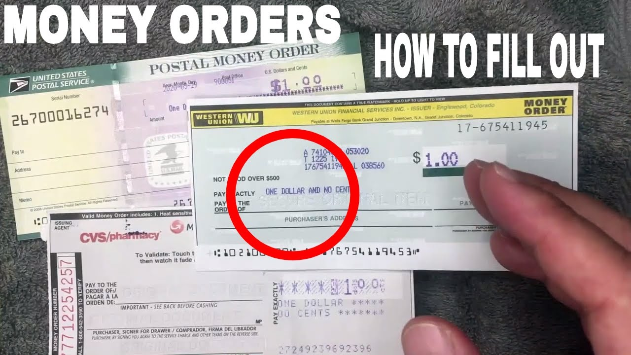 How To Fill Out A Money Order In Most Convenient Manner