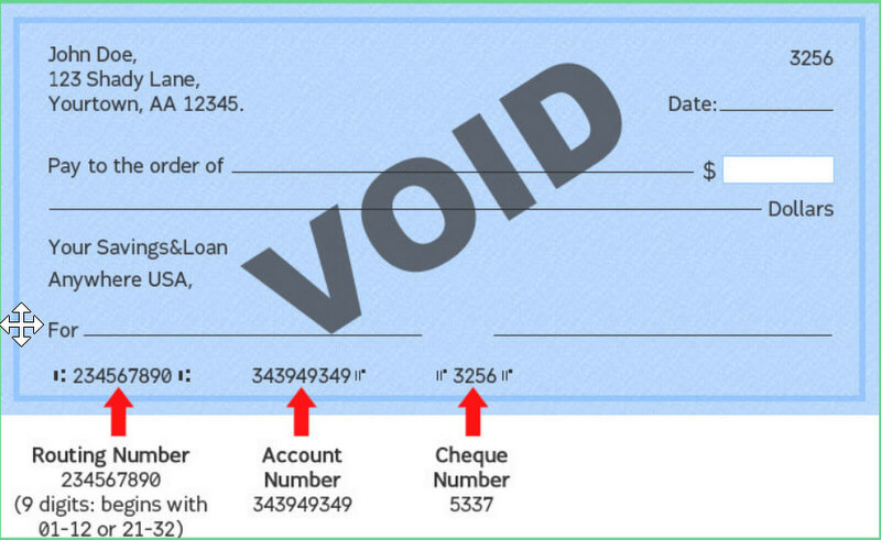 Voided Check Definition