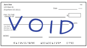 What Is A Voided Check?