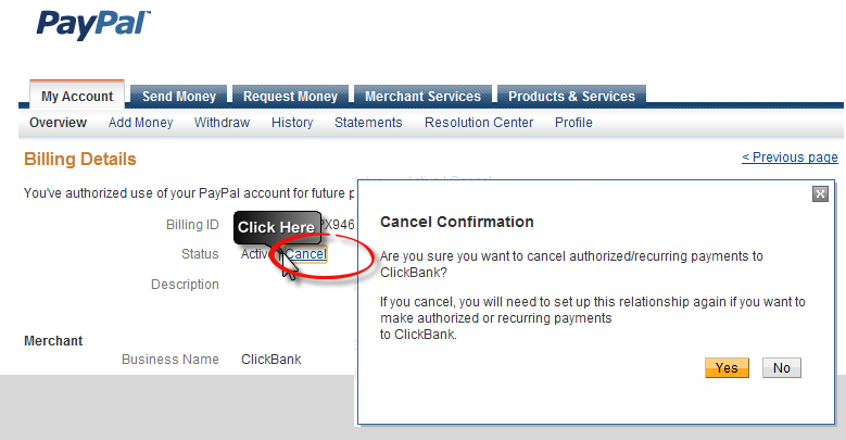 how to cancel a payment on paypal